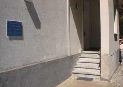 Sanierung eines Fassadensockels