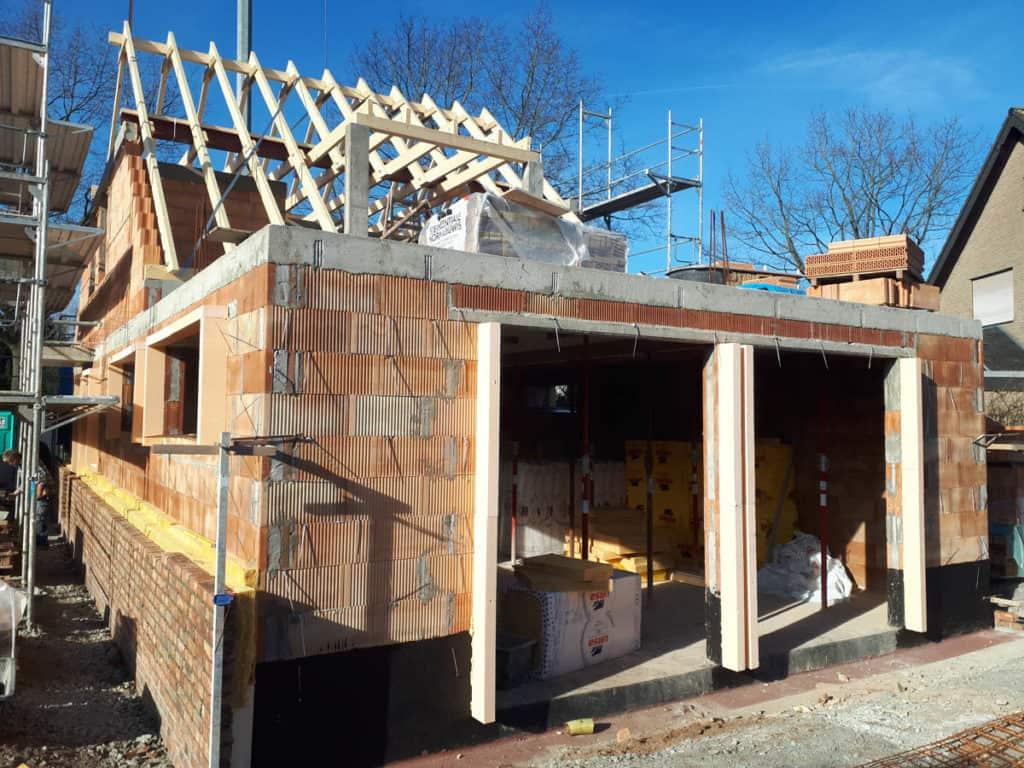 Gewerblich Bauen Betriebsgebaeude Dachstuhl Klinkerarbeiten 07