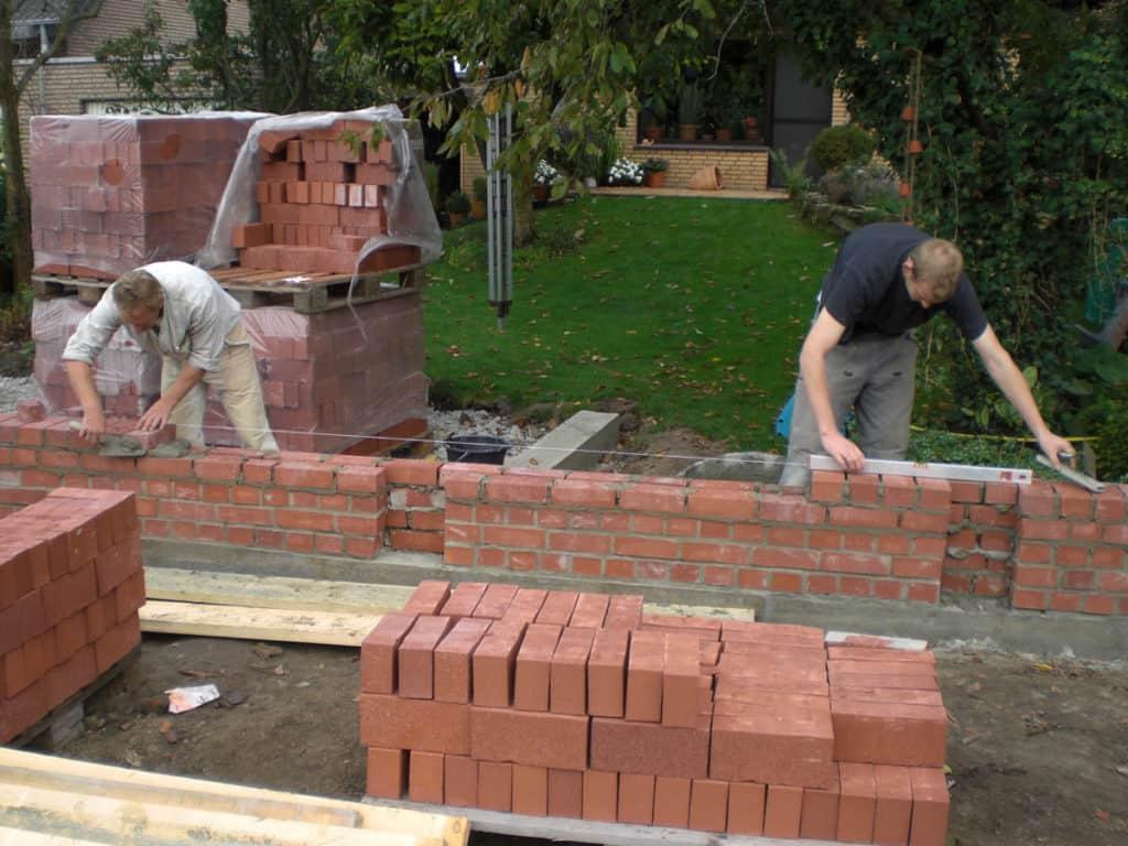 Maurerarbeiten Rustikale Gartenmauer 3