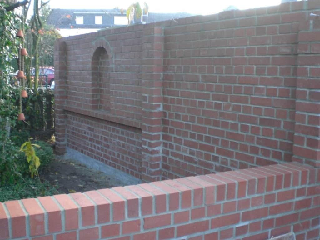 Maurerarbeiten Rustikale Gartenmauer 5