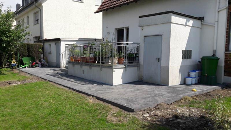 Terrassensanierung und Pflasterarbeiten