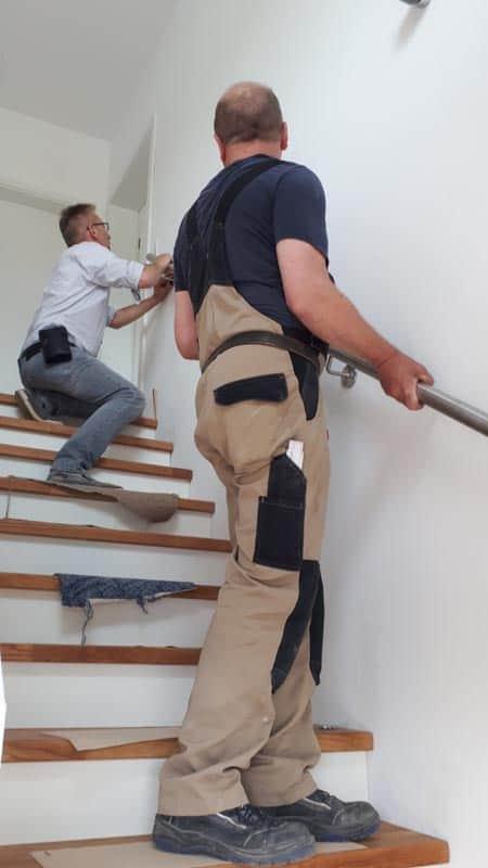 58.treppenbau Betontreppe Holzbelag