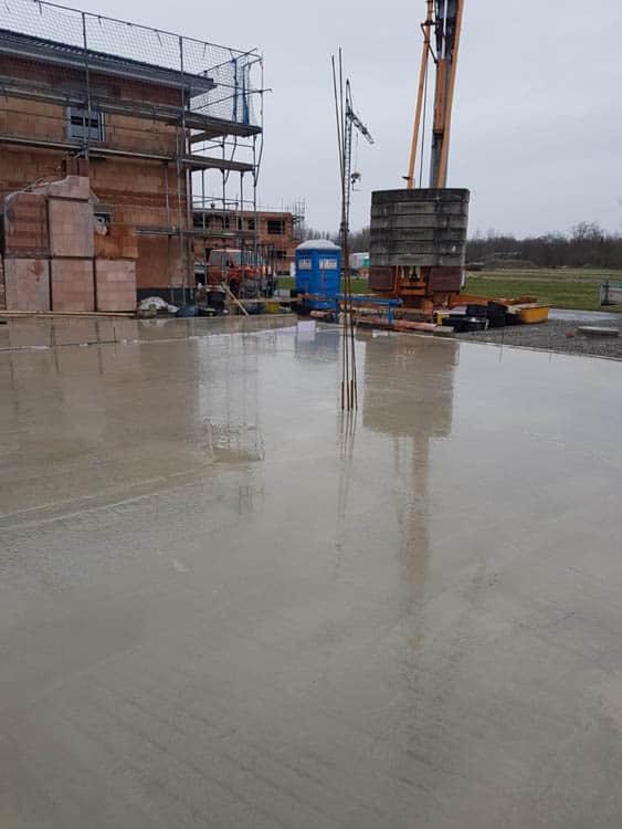 6.betonieren Bodenplatte
