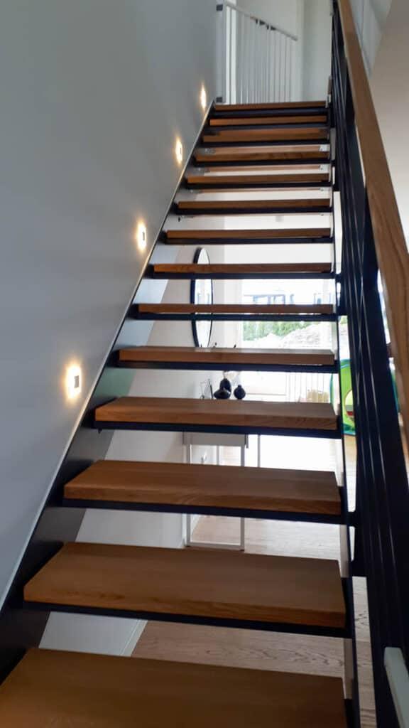 8 Stahltreppe Holzbelag Schluesselfertig Bauen Lippstadt