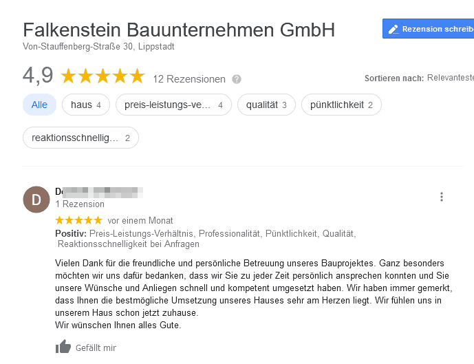 Google Review Falkenstein
